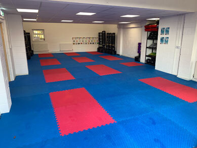 Photo of the training room in Martial Arts Horsforth Centre