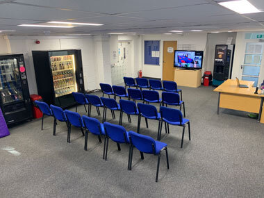 Photo of the waiting area in our Horsforth Martial Arts Centre