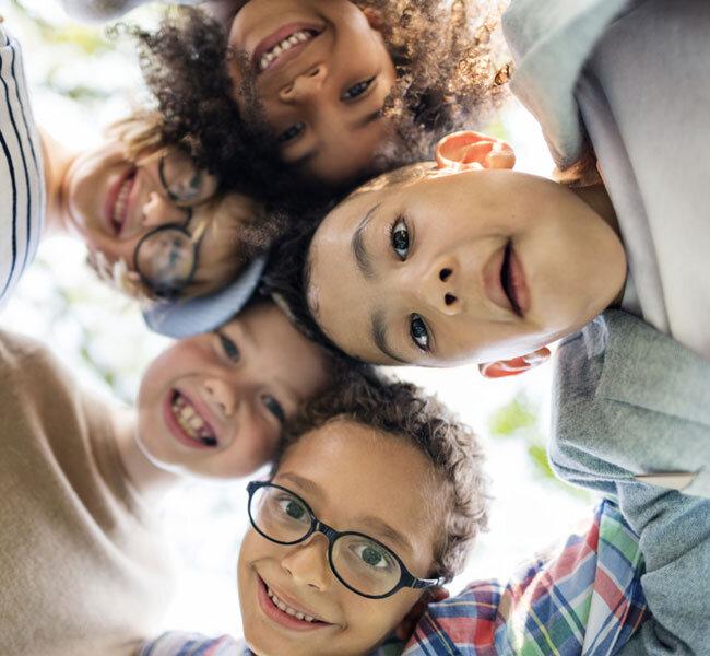Children with friends